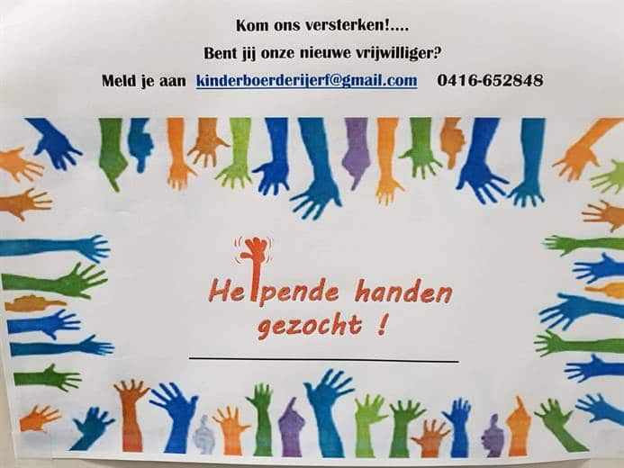 Helpende handen gezocht