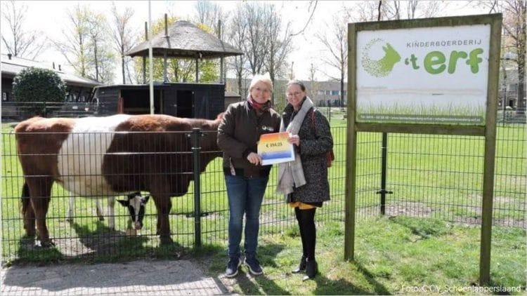 Opbrengst collecte carnavalsviering voor onze kinderboerderij